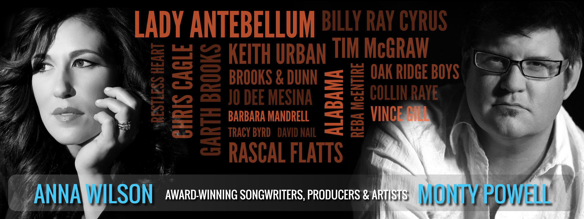 Monty Powell & Anna Wilson: Award-Winning Songwriters, Producers & Artists